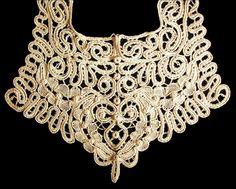 Irish lace antique collar