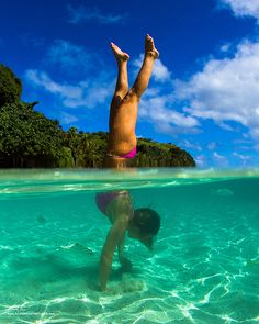underwater handstands in paradise