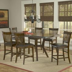 Found it at Wayfair - Arbor Hill 7 Piece Counter Height Dining set