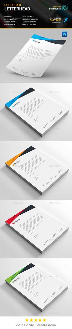Letterhead  Letterhead Template Letterhead Design And Stationery