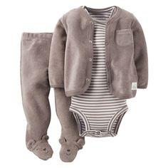 Baby Boy Carter's Bear Terry Cardigan Set