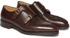 $1,300, John Lobb William Leather Monk Strap Shoes. Sold by MR PORTER.