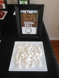 Minecraft Birthday Party | http://CatchMyParty.com