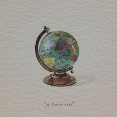 Globe, postcards for ants