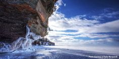 Apostle Islands' Frozen Ice Caves | Travel Wisconsin.  Check also http://www.nps.gov/apis/mainland-caves-winter.htm