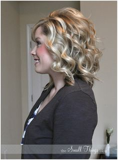 Instruction: Flat Iron curling technique. This woman has a great blog with step-by-step instructions to lots of salon-esque hair tricks and styles.... my curls were never this perfect... grow hair so I can try this out :)
