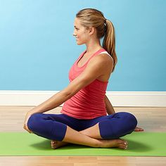 Fertility-Boosting Yoga Poses: Seated Twist (via Parents.com) Twisting helps to wring out any fertility-compromising tension that may be in your organs and muscles