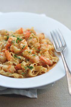 #Recipe - Prawn Pasta With Bisque Sauce