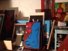 Paintings in atelier. Rita Pedullà.
