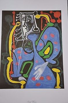 "Seated Woman by Pablo Picasso Fine Art Print 17"" x 11"""