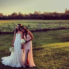 Gorgeous bride and maid of honor