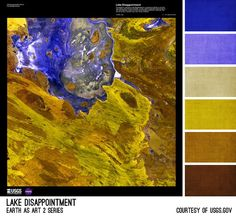 Lake Disappointment Palette - inspired by the Earth As Art photos from the USGS, created by Brandi Hussey (www.brandigirlblog.com) for the 3rd Annual Challenge of Color (http://treasures-found.blogspot.com/2012/11/color-full-world-welcome-to-3rd-annual.html)