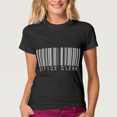 Office Clerk Bar Code T Shirt, Hoodie Sweatshirt