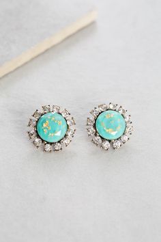 Jane Stud Earrings | Turquoise