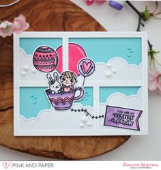 Up in the sky with the April 2018 Card kit | Laureen Wagener