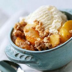 Fruit Crisps and Cobbler Recipes - Diabetic friendly dessert!
