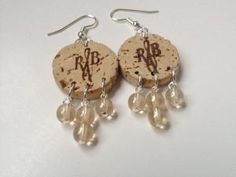 Upcycled wine cork earrings from Simply March. by etta