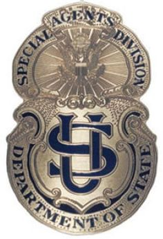File:Bureau of Secret Intelligence - Diplomatic Security Service DSS 1916 Badge.jpg - Wikipedia, the free encyclopedia Law Enforcement Badges, Federal Law Enforcement, Law Enforcement Officer, Diplomatic Security Service, Us Department Of State, Fire Badge, Police Patches, Military Police, Plaque