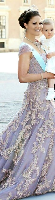 Princess Victoria of Sweden and little Princess Estelle - the next two Queens of Sweden