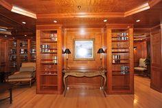 209' Royal Denship-Turmoil -Library - Custom Yacht Interior Design - Destry Darr Designs
