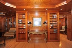 209' Royal Denship-Turmoil -Library - Custom Yacht Interior Design - Destry Darr Designs