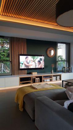 Home Room Design, Home Design Plans, Modern Home Interior Design, Interior Design Living Room, Deco Salon Design, Living Room Tv Unit Designs, Master Bedroom Interior, House Rooms, Tv Rooms