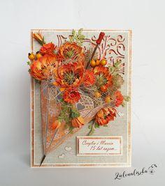 Papierowe chwile zielonejliszki, Card with flowers and umbrella