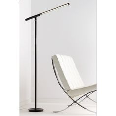 The Brazo Floor Lamp is an energy efficient LED floor lamp with a rotating head and dim control. Made by Pablo Lighting. Silver Floor Lamp, Led Floor Lamp, Online Furniture, Home Furniture, Pablo Lighting, Task Lighting, Floor Design, House Design, Scandinavian Lighting