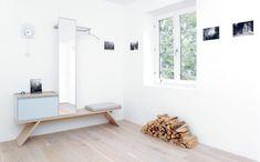 Garderoben Set mit SItzbank und Spiegel