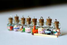 Anti dust plug for phone - Marshmallow bottle miniature kawaii Polymer clay