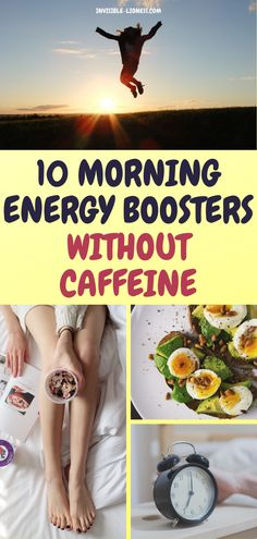 Looking for some natural morning energy boosters? These tips will help you wake up energised and happy, without needing caffeine! Wellness Tips, Health And Wellness, Health Tips, Getting More Energy, You Wake Up, Fitness Nutrition, Fitness Tips, High Energy, How To Increase Energy