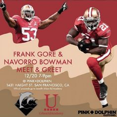 OMG!!!!!!! On 12/20 In San Fran! Let's go you guys! Repinn if you're a big 49ers fan & going to attend.