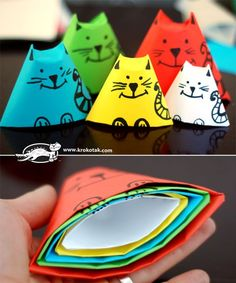 I love these stacking Origami Cats. Very cute!