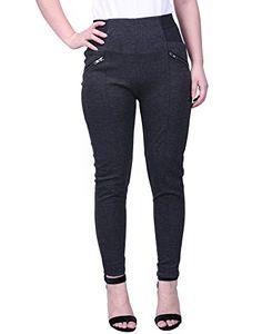 2b58ab2cb7f HDE Womens Plus Size Pants Skinny Ponte Knit Leggings Slimming Office  Trousers