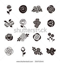 Simple Geometric Designs, Doodle Drawings, Flower Designs, Design Elements, Outline, Royalty Free Stock Photos, Doodles, Rose, Illustration