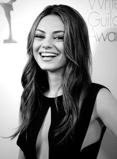 Mila Kunis has one of the most stunning smiles in Hollywood! #mila #kunis #perfectsmile