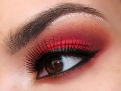red make up for brown eyes