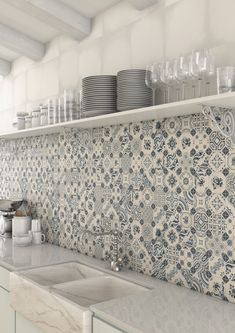 22 Ways To Tile Your Home & Top Tiling Tips | Popular for their durability and easy to maintain properties, tiles are the perfect choice for our hardworking homes. They're also great at adding texture and colour as well as pattern of which we've definitely seen more of in recent years. #tiles #kitchendecor #tiletrends #hometrends #patternedtiles #blueandwhitetiles #kitchenideas #splashbacks #interiorinspo #interiortrends #interiors #homedecor