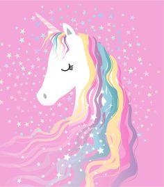 Unicorn with rainbow hair
