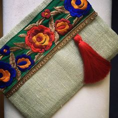 Sage Floral embrague embrague de Bohemia Boho por BOHOCHICBYDAMLA