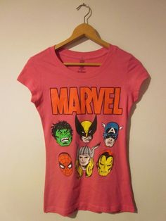 Marvel Avengers XMen Tshirt Girls Size Small by ThisShopStore, $16.00