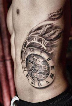 Realism Time Tattoo by Darwin Enriquez - http://worldtattoosgallery.com/realism-time-tattoo-by-darwin-enriquez/