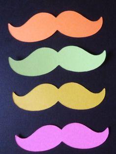 Neon Mustache moustache mustashe Bash 100 by itrhymeswithorange, $10.00