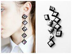 squares earrings
