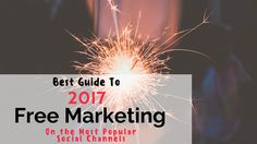 So as we come to the end of this year, IMU has compiled the 2017 Best Guide to FREE Marketing using Popular Social Media Channels. Today's biggest platforms, with the best free lead generation…