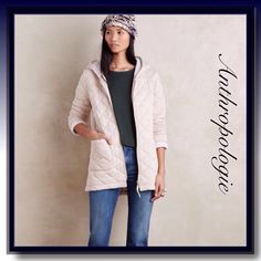 "Anthropologie Hooded Gwynn Jacket So cozy and warm quilted rayon jacket by Saturday Sunday for Anthropologie,patch pockets, zip front..29"" length..machine washable Anthropologie Jackets & Coats"