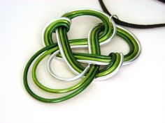 Celtic HOPE Knot  Wire Work Pendant by RefreshingDesigns on Etsy, $18.00