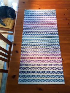 Loom Weaving, Scandinavian Style, Handicraft, Rugs On Carpet, Pattern Design, Diy And Crafts, Textiles, Floor, Inspiration