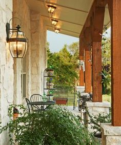 Front porch on a Hill Country Home in Wimberley Austin Texas