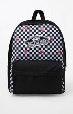 Vans Black & White Realm Backpack - Black/White 1Sz